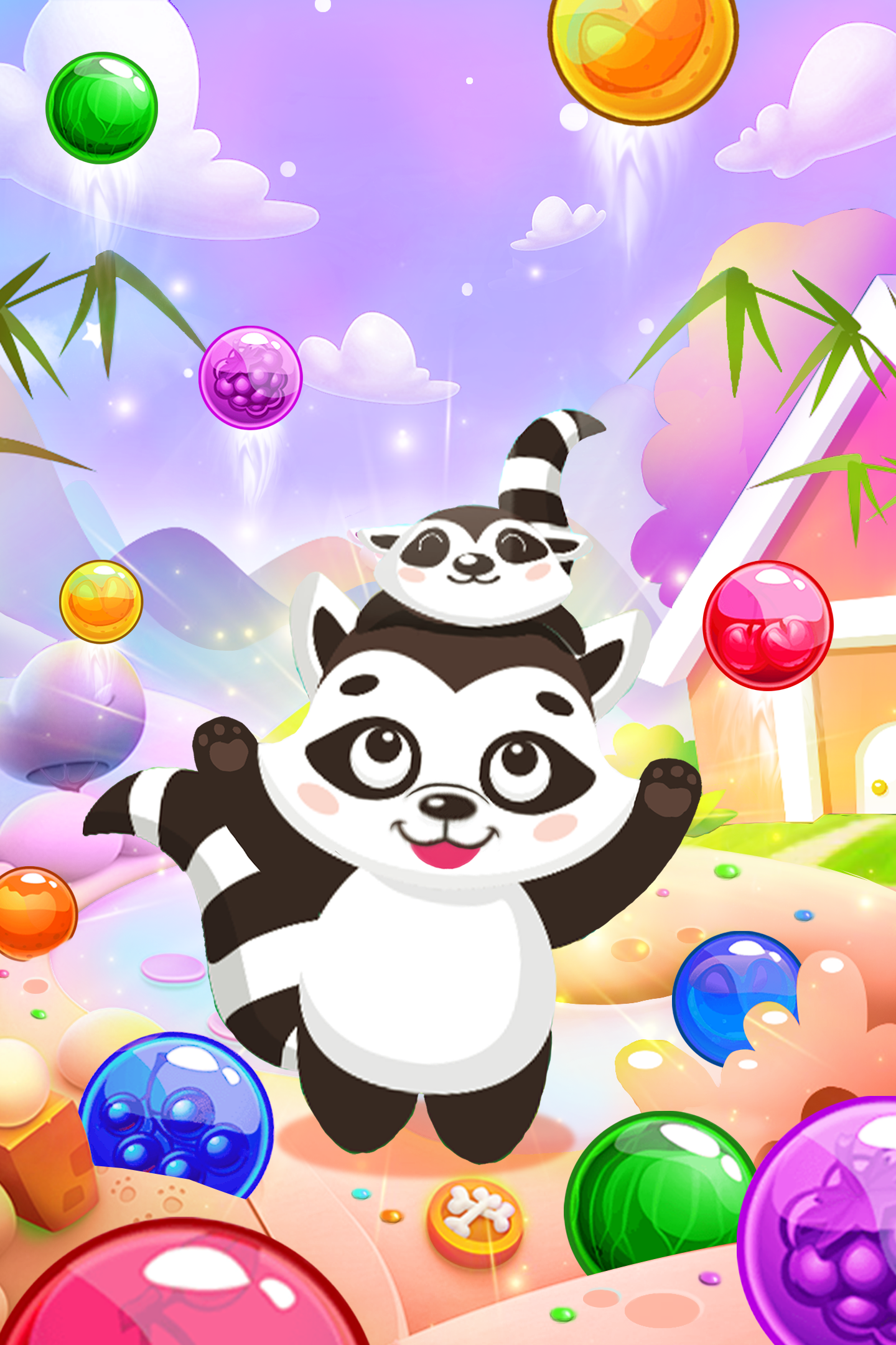 Raccoon Rescue: Bubble Shooter